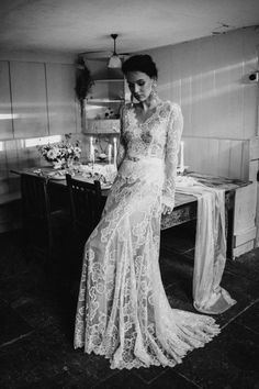 Dress by Katya Katya Shehurina // Earrings by Mimi Wade x Vicki Sarge // Ring by Pebble London // Styling by Beatnik Bride // Images by Benjamin Wheeler International Wedding Photographer