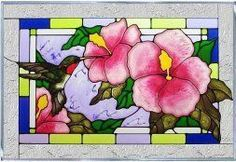 I absolutely love glass home wall art décor as it is rare,  stunningly beautiful and absolutely timeless when it comes to elegant home décor.  Moreover, I love the colorful glass wall  decorations.  Indeed, these decorative  accents are simply charming, unique and trendy in homes around the world.  #homedecor #wallart #glassart      Hummingbird Hibiscus Blue Red Art Glass Panel Wall Window Hanging Suncatcher 14 x 20