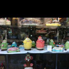 Barbapa' easter eggs in Milan