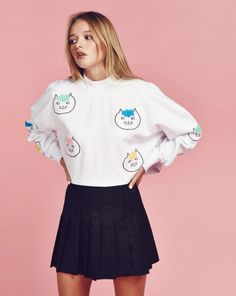 Lazy Oaf Hairy Cat Sweatshirt - View all - NEW IN - Womens