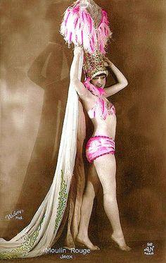 Moulin Rouge showgirl