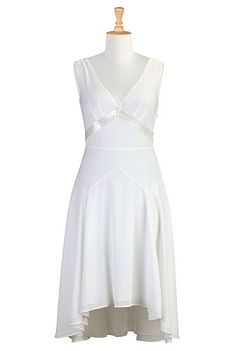 I <3 this Sequin crepe hi-low dress from eShakti/ If I renewed my wedding vows this would be a great dress