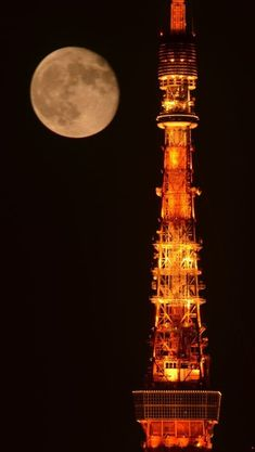Scenery Pictures, Moon Pictures, Aesthetic Japan, Japanese Aesthetic, Beautiful Places In Japan, Mystic Moon, Tokyo Skytree, Tokyo Night, Shoot The Moon