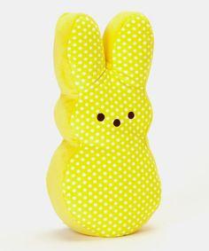 Yellow Polka Dot Peeps Bunny Large Plush Toy