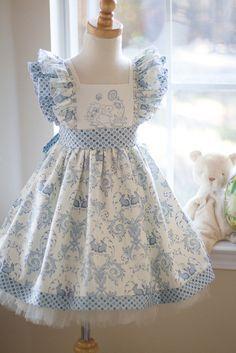 April Dress - Kinder Kouture - Available in sizes 12mos-8yrs. #kinderkouture, #boutiqueclothing #kidsfashion