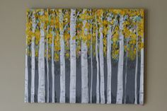 Birch Original Painting landscape painting