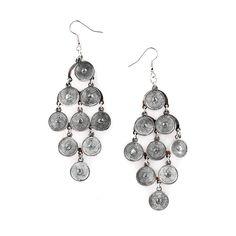 Silver Circle Eternal Dangle Drop Earrings