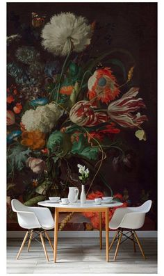 Modest Ideas Large Scale Floral Wallpaper Modern Victorian Style Wall Treatments And Art Get The Look - Wallpaper Ideas Look Wallpaper, Wall Wallpaper, Bedroom Wallpaper, Modern Victorian, Victorian Fashion, Victorian Design, Mural Floral, Victorian Wallpaper, Wall Treatments