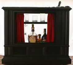 rePurpose TV console bar or puppet show ♡