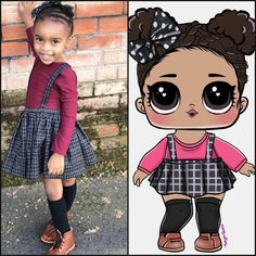 Kennedy is obsessed with @lolsurprise dolls! Her birthday party planning is come along great! Heres a sneak peek of a custom drawing of her as an LOL doll! She is going to flip out when she sees herself as an @lolsurprise doll #kennedyturns4onmarch4 childhood #childhoodunplugged #winter #winterstyle #childhoodmemories #colorful #brownbabies #brownbabesreptoo #blackgirlsrock #blackgirlmagic #kidsfashion #cutekidsfashion #hipkidsclothing #childhoodrising #instamood #instagood #kidzfashion…