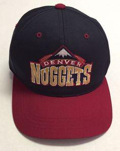 424e6349 Vtg Denver Nuggets Hat NBA Baseball Cap Starter Youth 90s 1990s Basketball  CO #Starter #DenverNuggets