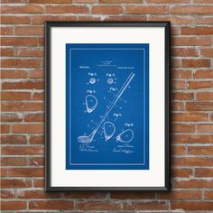 Golf Club Patent Art Print
