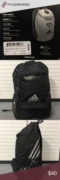 Brand New Adidas Stadium Backpack With Tags Brand new Black Adidas Stadium Backpack that has not been worn. Also has the original tags attached. adidas Bags Backpacks
