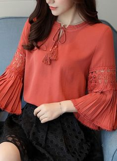 Shop sexy club dresses, jeans, shoes, bodysuits, skirts and more. Saree Blouse Neck Designs, Dress Neck Designs, Blouse Designs, Trendy Tops For Women, Blouses For Women, Dressing Gown Pattern, Stylish Dresses, Casual Dresses, Hijab Fashion