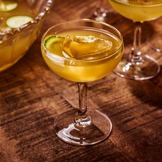 Sulley House Punch - A complex and tropical punch, salted cucumbers tame the lime juice acidity and complement the mild anise flavours. A