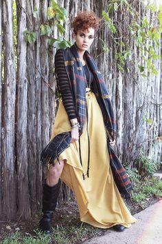 Golden Yellow Autumn Maxi Skirt