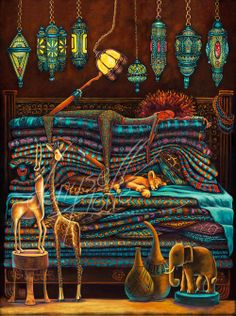 The Princess and the Pea Africa is the 5th in the series. This exotic painting is available in 3 sizes of limited edition prints starting at $430.00. This is the series that is being developed as a young girl's entertainment property.