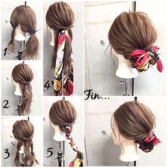Up do with accessory- scarf