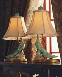In a world of UGLY peacock lamps, these are the best a girl can do