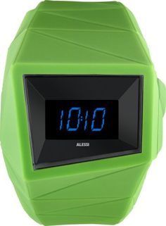 Alessi Unisex AL22002 Green Digital Sport Watch ** Want to know more, click on the image.(This is an Amazon affiliate link)