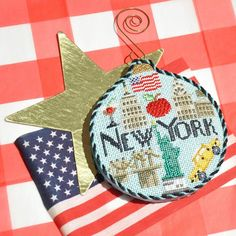 You'll always be in a New York state of mind with the Kirk & Bradley New York needlepoint canvas!