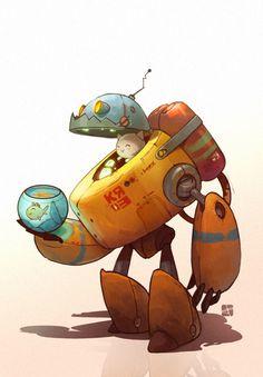 robocat by pushai | Cartoon | 2D | CGSociety