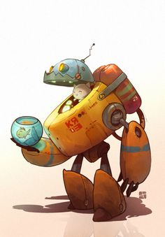 robocat by Alexandr Pushai, via Behance