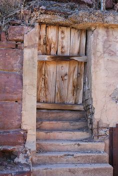 Door to ??? in Jerome, Arizona  (what a crazy little 'psycho' town Jerome was for us...especially arriving before the shops opened....)