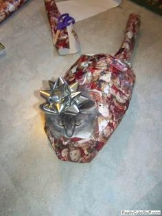 Gift wrapped kitty cat! haha @Rita Moore-Davtian so lucky Psyche doesn't live with me anymore! Lmfao!