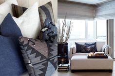 Décor Inspiration: A Cosy Ski Lodge with a Warm Fire Study Interior Design, Interior Design Companies, Throw Cushions, Pillows, Chalet Style, House By The Sea, Coastal Living, Cosy, Furniture