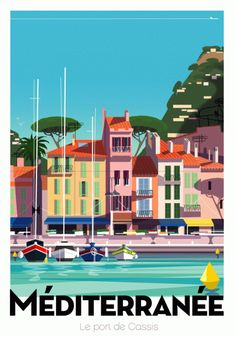 """'Vintage travel poster """"Mediterranean"""" ⛔ HQ quality' Poster by Alex ⛵ Air Old Poster, Retro Poster, Vintage Advertisements, Vintage Ads, Vintage Party, Designers Gráficos, Travel Illustration, Ansel Adams, Cool Posters"""
