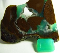 5.06 ct Rare Natural Gem Silica Chrysocolla Ray mine az 12.5 x 9.5mm Emerald Cut