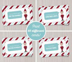 40 Fun & Creative Christmas Elf On The Shelf Printables   Glitter 'N' Spice