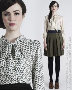 *want*  Lisa Blouse, Crosby Pleated Skirt -- Dear Creatures Autumn 2012