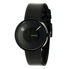 I really love mod watches!  Issey Miyake Vue Yves Leather Black now featured on Fab.