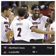 NCAA TOURNAMENT 2015 Louisville 66 Northern Iowa 53