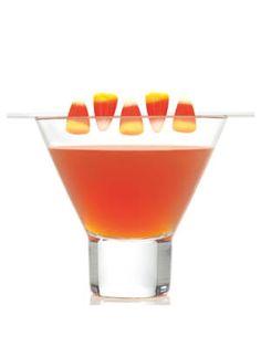 After Dark - clementine vodka, sour cherry schnapps, mango juice, & orange juice #Halloween #cocktails