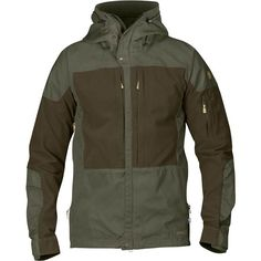Fjallraven Keb Jacket - Glacier Green-Dark Navy - Casual Jackets S Hiking Jacket, Rain Jacket, Zip Cardigan, Trekking Outfit, Style Urban, Look T Shirt, Inspiration Mode, Outdoor Outfit, Jackets Online