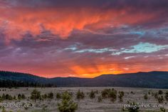 Sunset over meadows of Angel Fire, New Mexico. You can see how it got its name.
