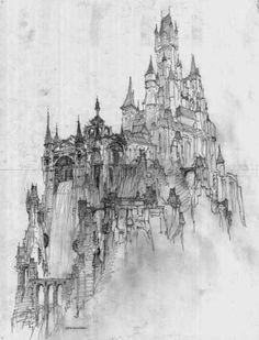 "disneyconceptsandstuff: "" Visual Development from Tangled by Seth Engstrom "" Fantasy Kunst, Fantasy City, Fantasy Castle, Art And Illustration, Illustrations Posters, Tangled Castle, Creation Art, Arte Dc Comics, Disney Concept Art"