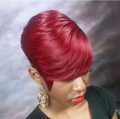 Love the style 27 Piece Hairstyles, Quick Weave Hairstyles, Short Bob Hairstyles, Cool Hairstyles, Black Hairstyles, Hairdos, Short Sassy Hair, Short Hair Cuts, Short Hair Styles