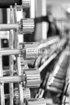 #iron #dumbbells in two #rows #Stockfotos und #lizenzfreie #Bilder auf #Fotolia.com #Bild 65122392 https://de.fotolia.com/id/65122392
