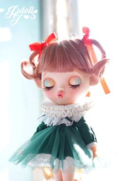 Christmas Fairy Custom Blythe Doll OOAK  ThePJdolls-Etsy