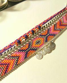 Bracelet multirang personnalisé apprêt en métal argenté : Bracelet par les-bijoux-de-mini-nel