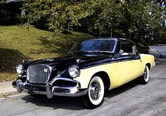 Studebaker Hawk  - A friend had one.  Same color scheme.  How we liked to ride!  It was fast, too.