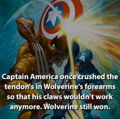 And Cap is still one of the few to ever gain Wolverine's respect.