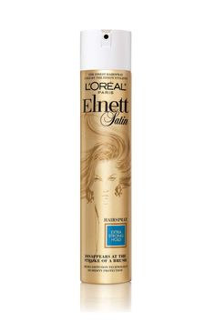 """L'Oreal Elnett Satin Extra Strong Hold Hair Spray  ELLE.com Editorial Director Leah Chernikoff says, """"There's a reason this hairspray has been around and has remained unchanged for over 50 years–it just works. And all the pros use it. It's always on photoshoots and backstage at fashion week."""""""