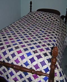 Cathedral Windows Quilt=Very labor intensive.  Absolutely gorgeous!!!