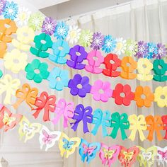 Butterfly/Flower Wedding #Party# Flowers Banners Scroll Color Birthday Gift Beautiful Hanging Flags Scroll Garland Festive Party Supplies From Ls_crystal, $27.96 | Dhgate.Com