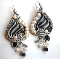 seta shibori e soutache monachelle in argento